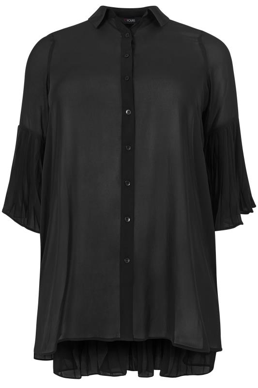 Black Pleated Longline Shirt_F.jpg