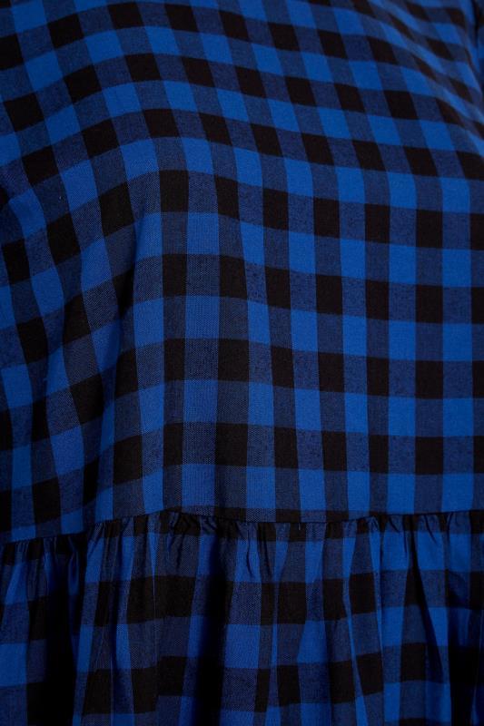 Cobalt Blue Gingham Peplum Dress_S.jpg
