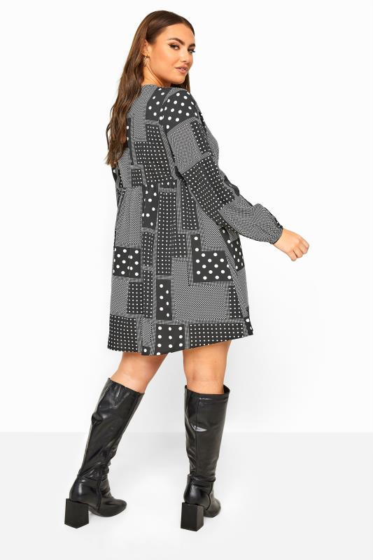 LIMITED COLLECTION Black Mixed Spot Smock Dress
