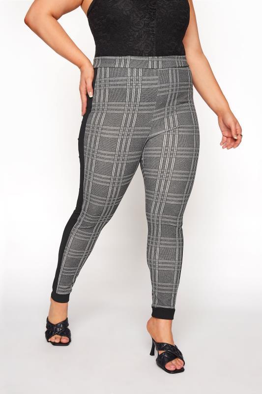 Black and White Side Stripe Scuba Trousers_D.jpg