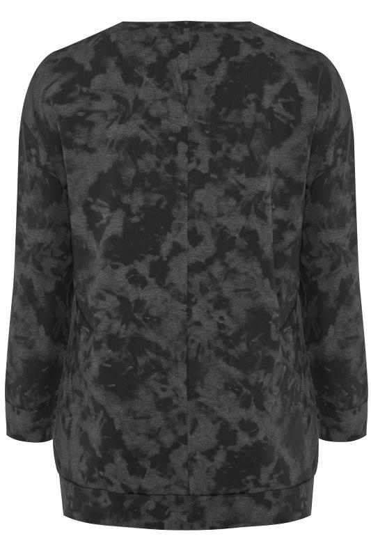 """Batik-Sweatshirt mit Schriftzug """"Be Kind"""" - Schwarz"""