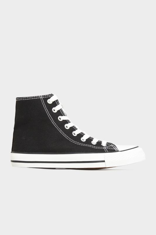 Black Canvas High Top Trainers In Wide Fit_A.jpg