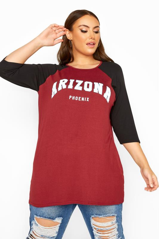 LIMITED COLLECTION Burgundy Arizona Raglan Top