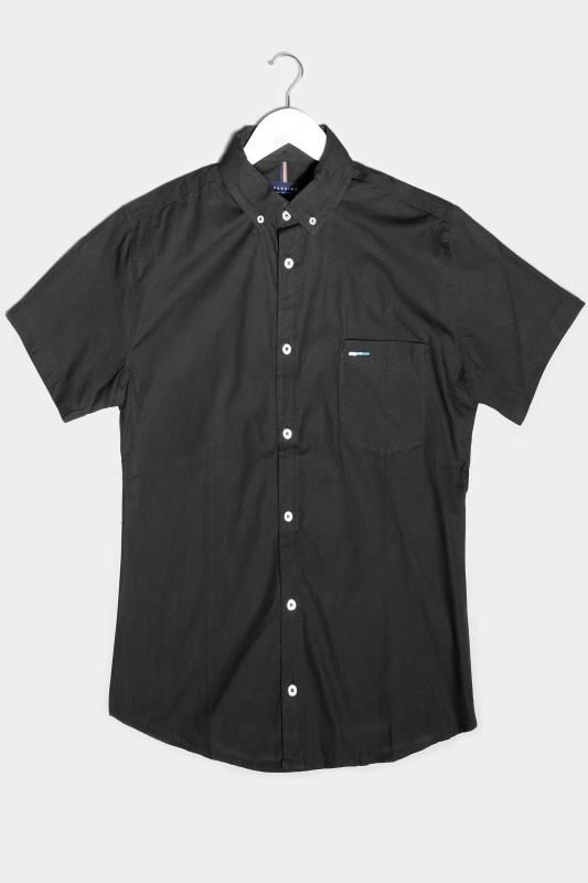 Men's  BadRhino Black Essential Short Sleeve Oxford Shirt