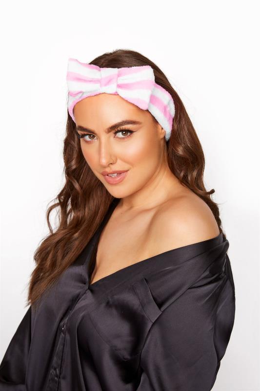 Plus Size  Pink Stripe Beauty Headband