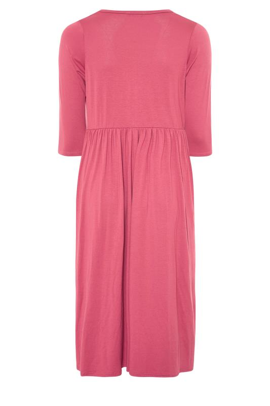 LIMITED COLLECTION Pink Button Midaxi Dress_BK.jpg
