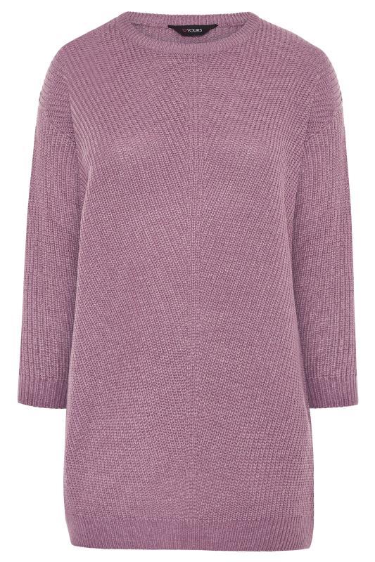 Mauve Purple Chunky Knitted Jumper_F.jpg