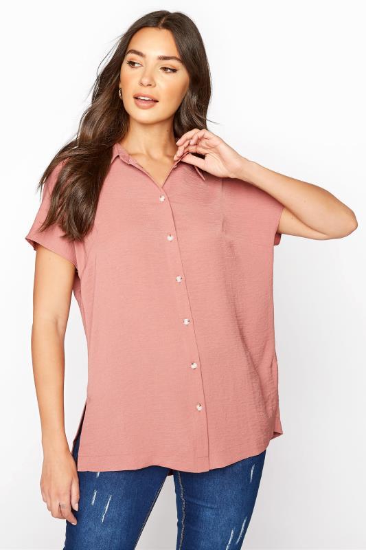 LTS Pink Button Through Shirt