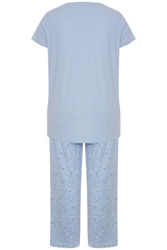 Blue Glitter 'To The Moon And Back' Slogan Pyjama Set