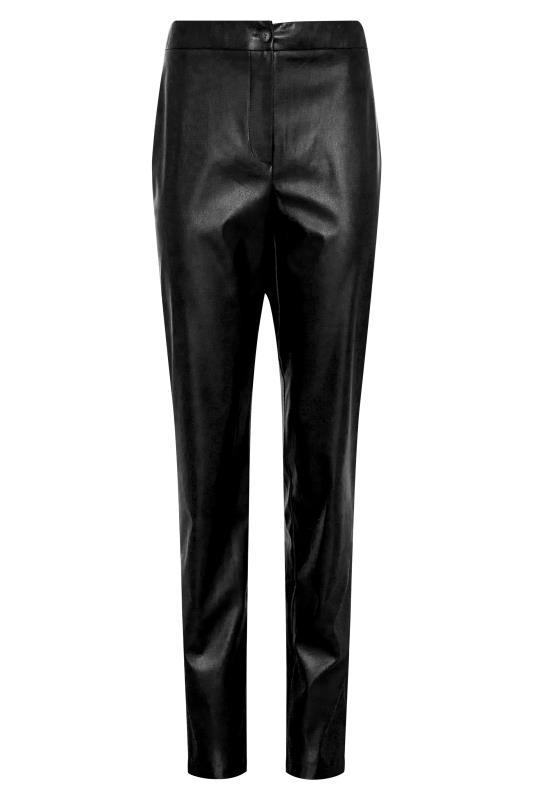 LTS Black Faux Leather Slim Leg Trousers_F.jpg