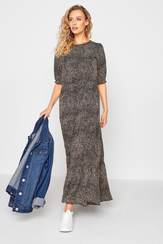 LTS Black Speckled Tiered Midaxi Dress_B.jpg