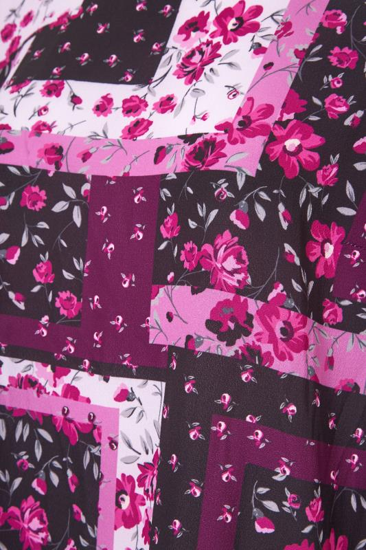 YOURS LONDON Pink Floral Patchwork Blouse_S.jpg