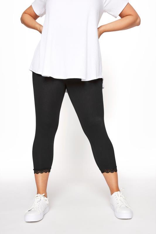 Black Cotton Essential Crop Legging With Lace Trim_B.jpg