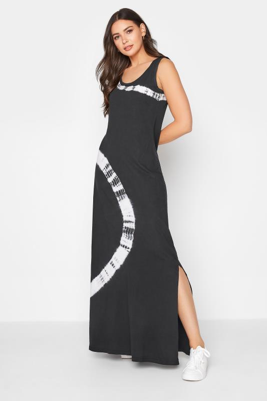Tall  LTS Black Tie Dye Maxi Dress