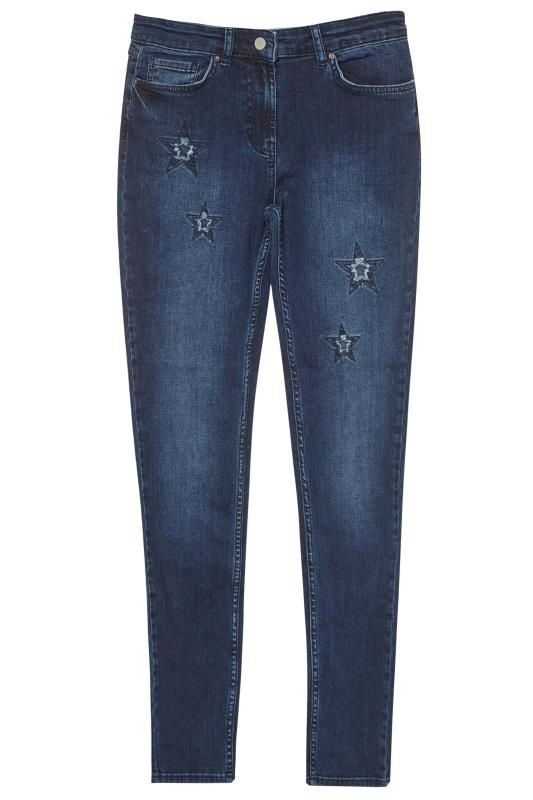 Blue Denim Star Detail Skinny Jean