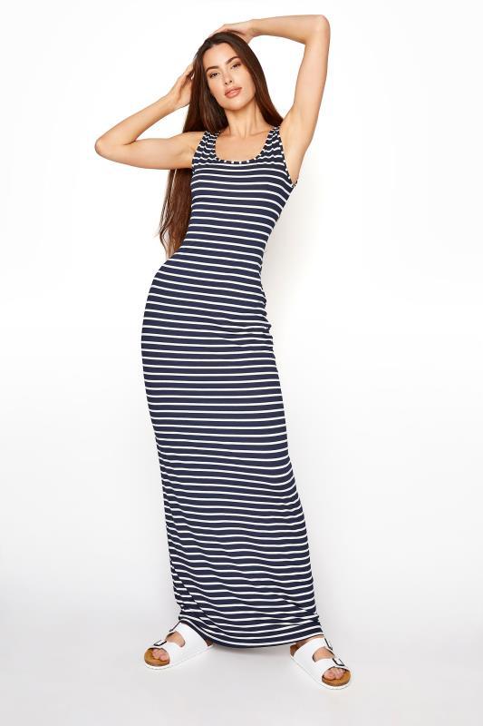 LTS Navy Stripe Sleeveless Maxi Dress