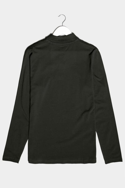 BadRhino Black Essential Long Sleeve Polo Shirt