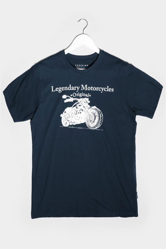 BadRhino Navy Legendary Motorcycles Graphic Print T-Shirt