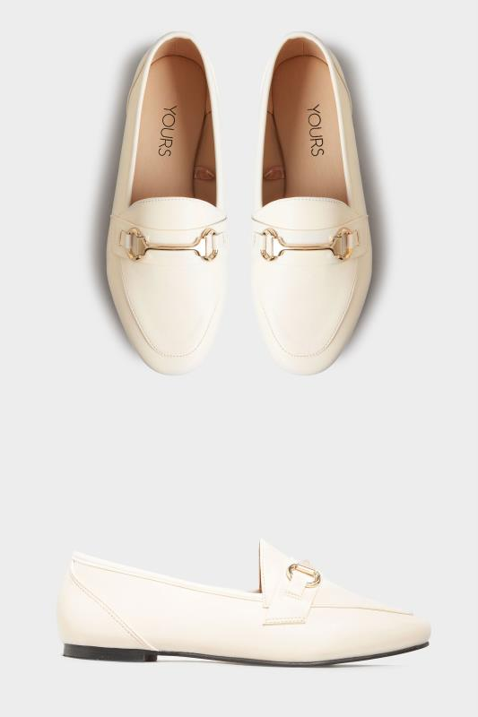White Metal Trim Loafer In Extra Wide Fit