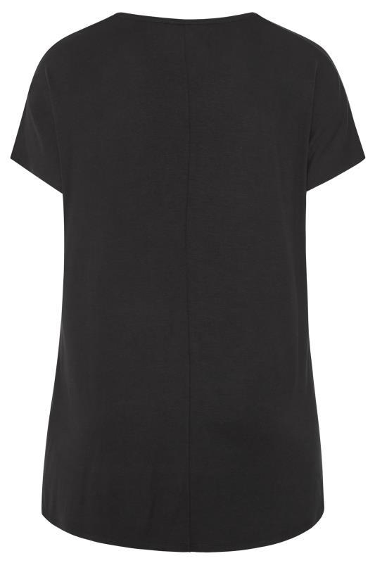 Black Embellished 'Naughty or Nice' Slogan Christmas T-Shirt_BK.jpg