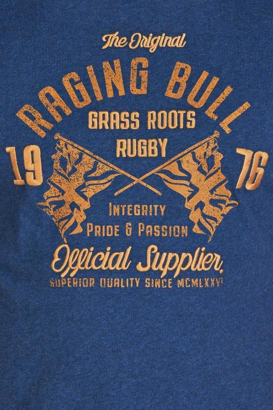 RAGING BULL Navy Grass Roots T-Shirt_D.jpg