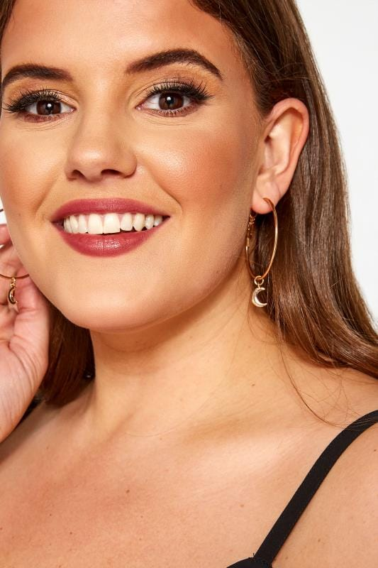 Plus Size Jewellery Sets 6 PACK Gold Hoop & Stud Earrings Set