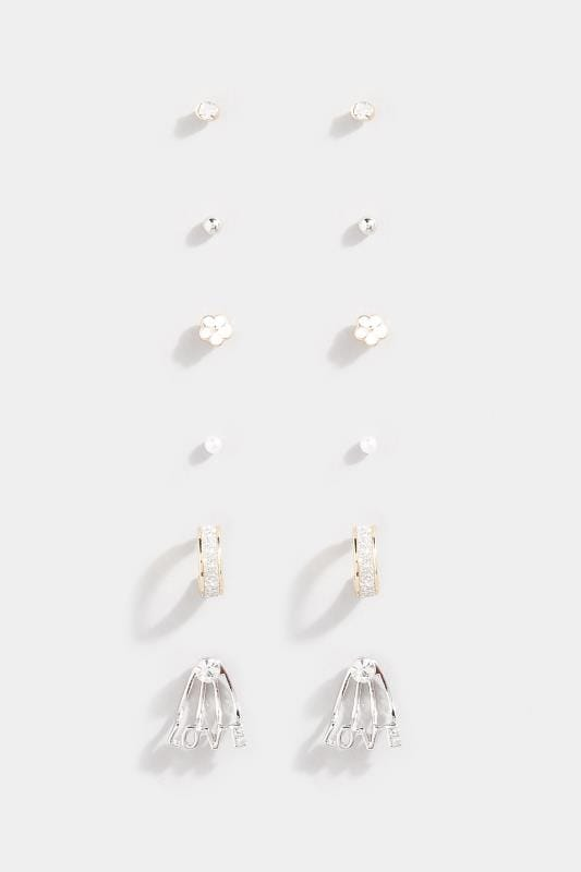 6 PACK Gold Love Assorted Earrings