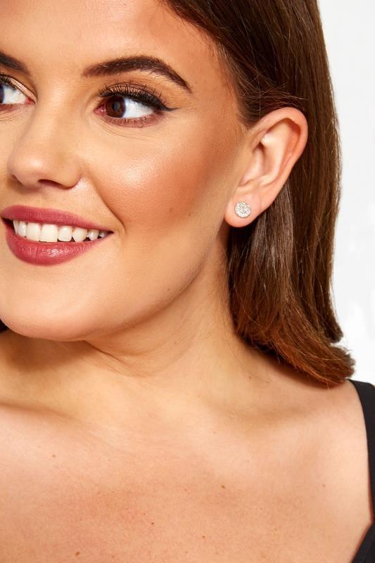 Plus Size Jewellery Tallas Grandes 6 PACK Silver Stud Earrings
