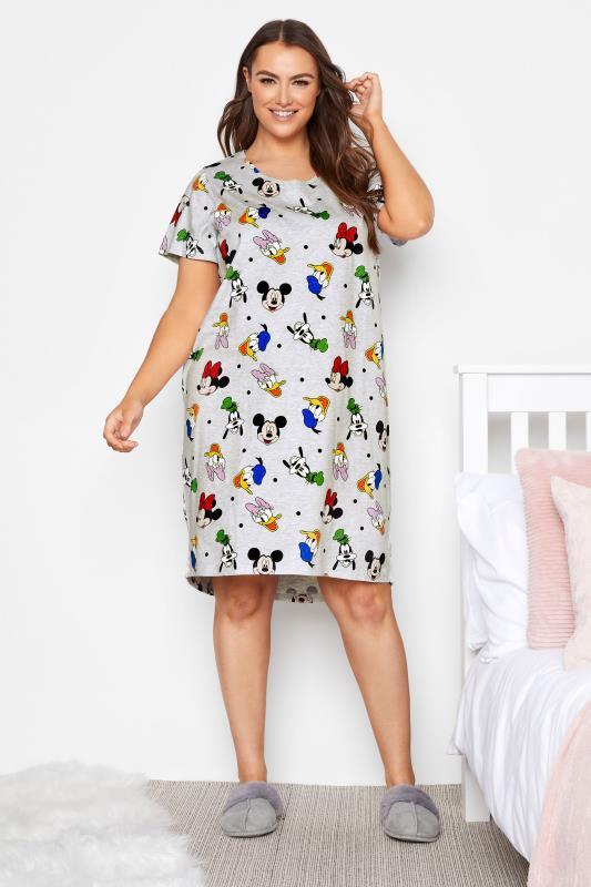 Plus Size  DISNEY Grey Character Nightdress