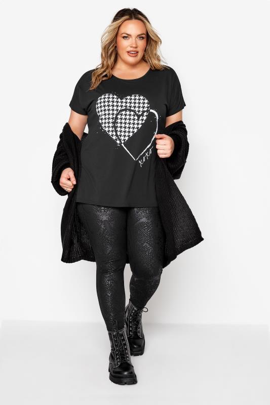 Black Dogtooth Heart Grown On Sleeve T-Shirt_B.jpg