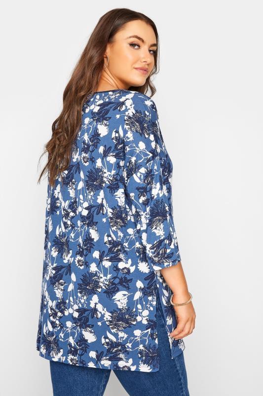 Blue Floral Split Hem Tunic_C.jpg