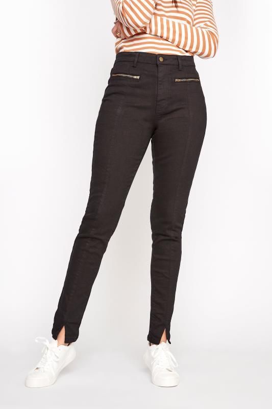LTS Black AVA Super Skinny Seam Front Jeans