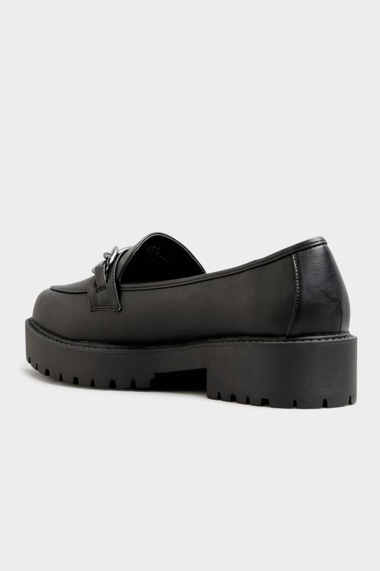 LIMITED COLLECTION Black Chunky Loafers In Extra Wide Fit_D.jpg