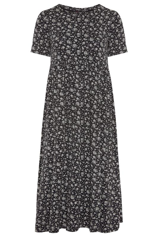 Black Ditsy Print Peplum Midaxi Dress_F.jpg