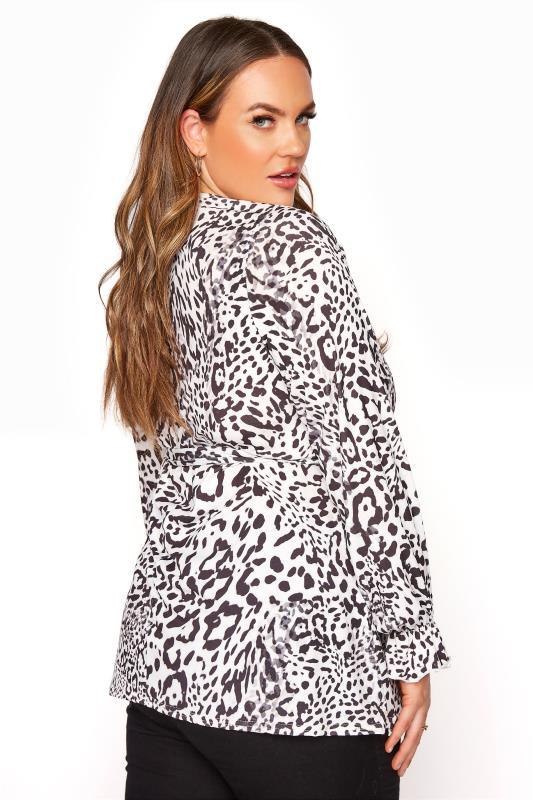 YOURS LONDON White Leopard Print Wrap Top_C.jpg