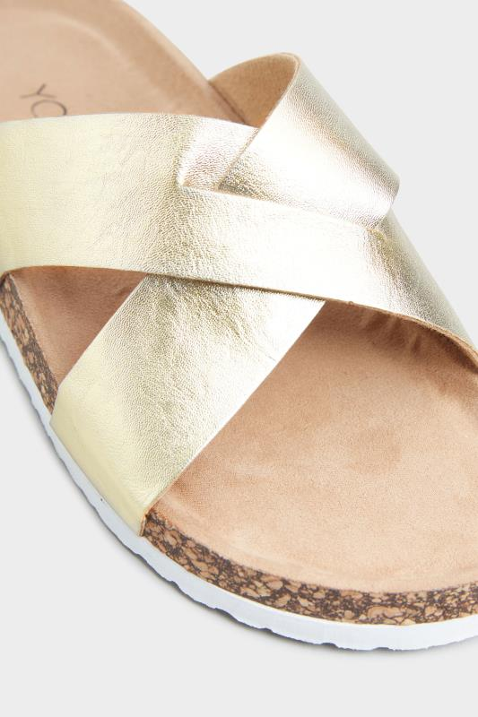 Gold Cross Strap Sandals In Extra Wide Fit_D.jpg