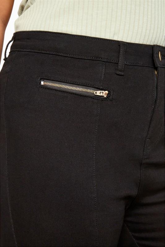 Black Front Split Hem Skinny AVA Jeans