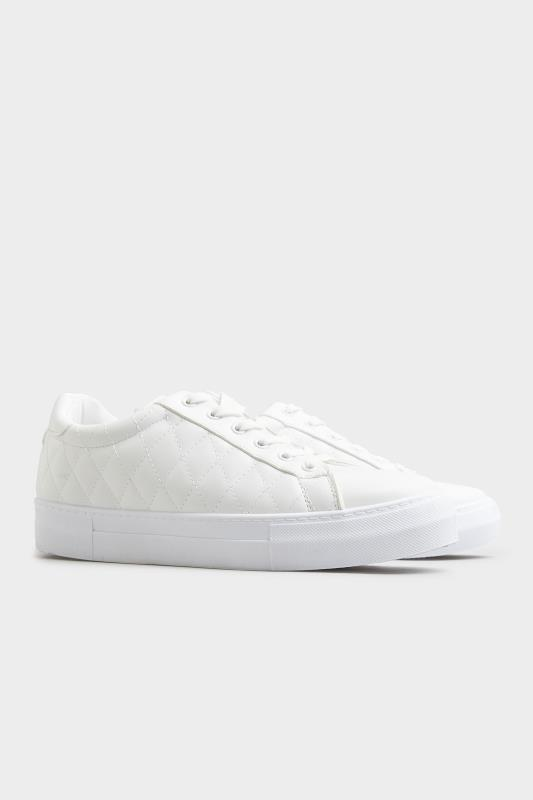 LIMITED COLLECTION White Quilted Trainers In Wide Fit_C.jpg
