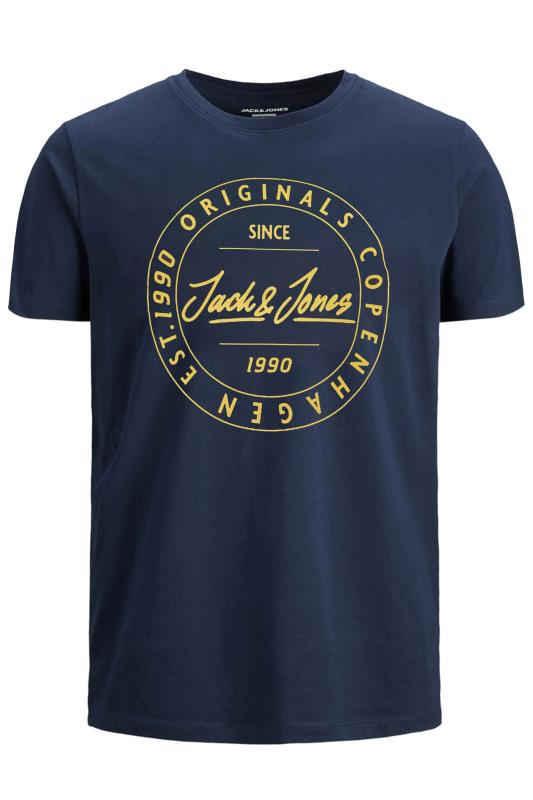 JACK & JONES Navy Move Logo T-Shirt