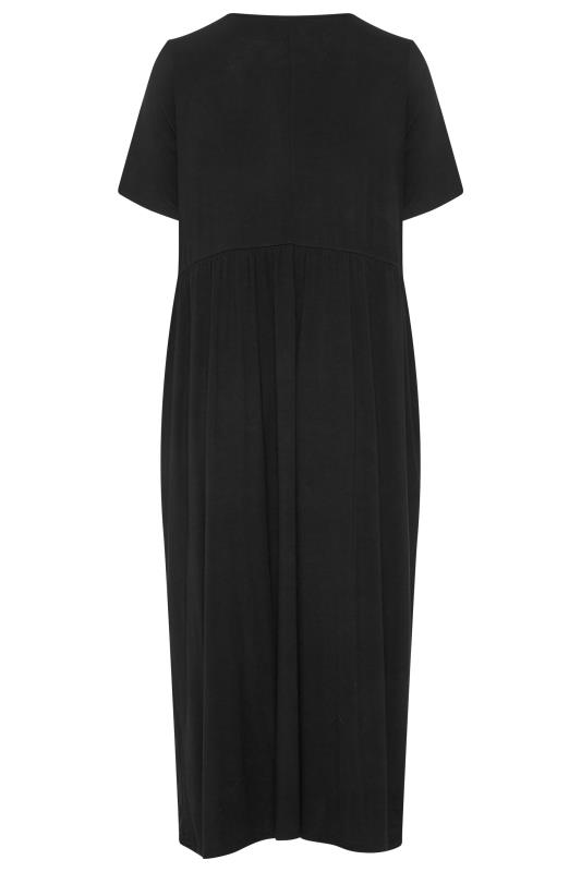LIMITED COLLECTION Black Throw On Maxi Dress_BK.jpg
