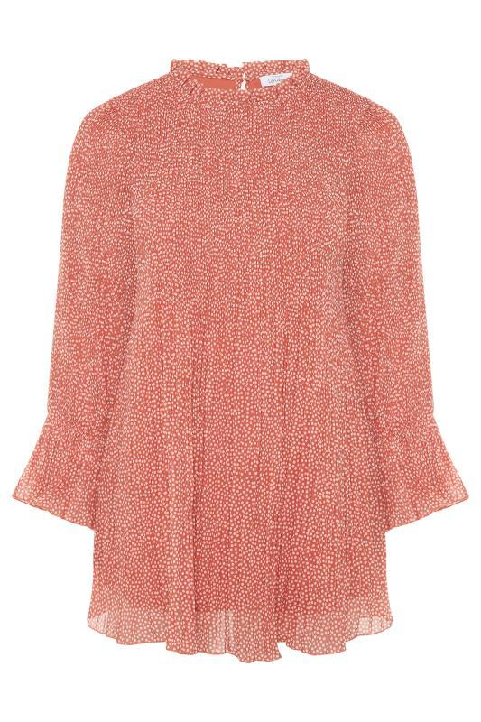 YOURS LONDON Pink Polka Dot Flared Sleeve Blouse_F.jpg