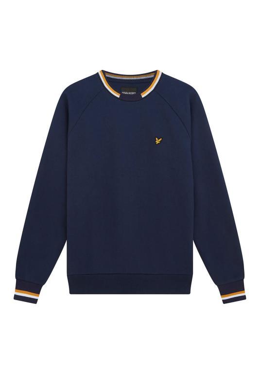 LYLE & SCOTT Navy Double Tipped Sweatshirt_F.jpg