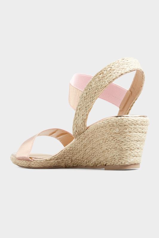 Rose Gold Espadrille Wedge Sandals In Wide Fit_C.jpg