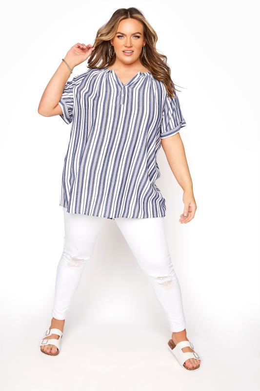 Blue Stripe Raglan Sleeve Shirt_B.jpg