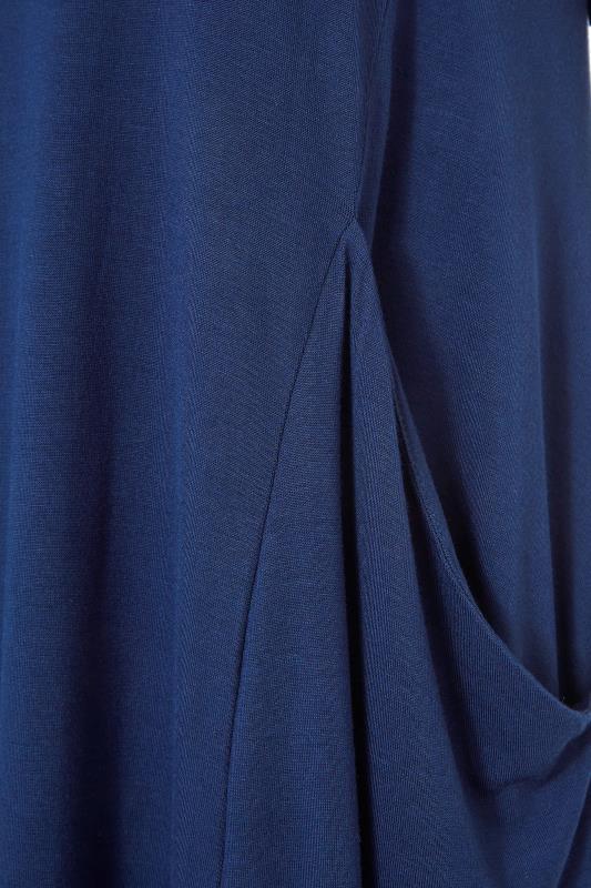 Navy Drape Pocket Midi Dress_S.jpg