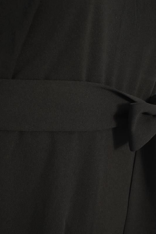 YOURS LONDON Black Mesh Panel Skater Dress_S.jpg