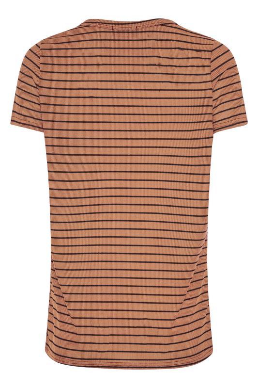 LTS Rust Stripe Rib T-Shirt_BK.jpg