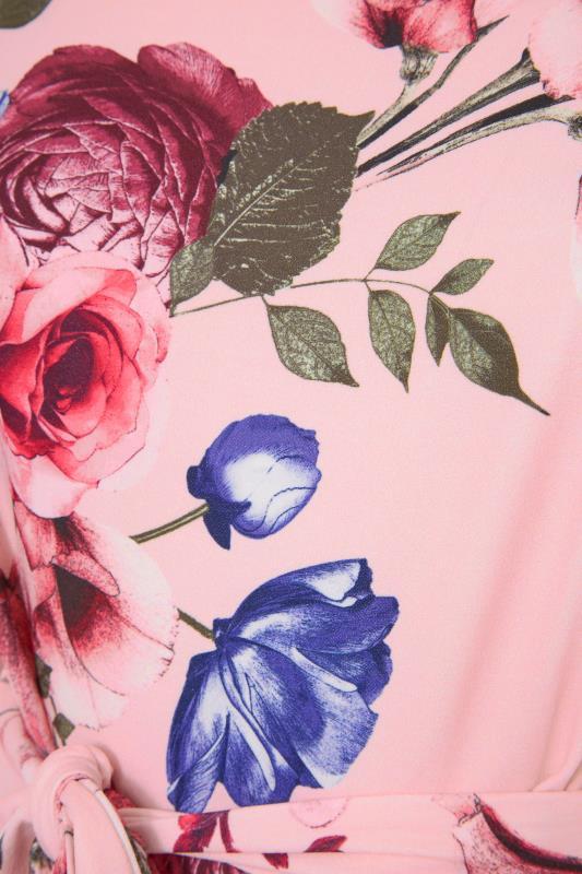 YOURS LONDON Pink Floral Skater Dress_S.jpg