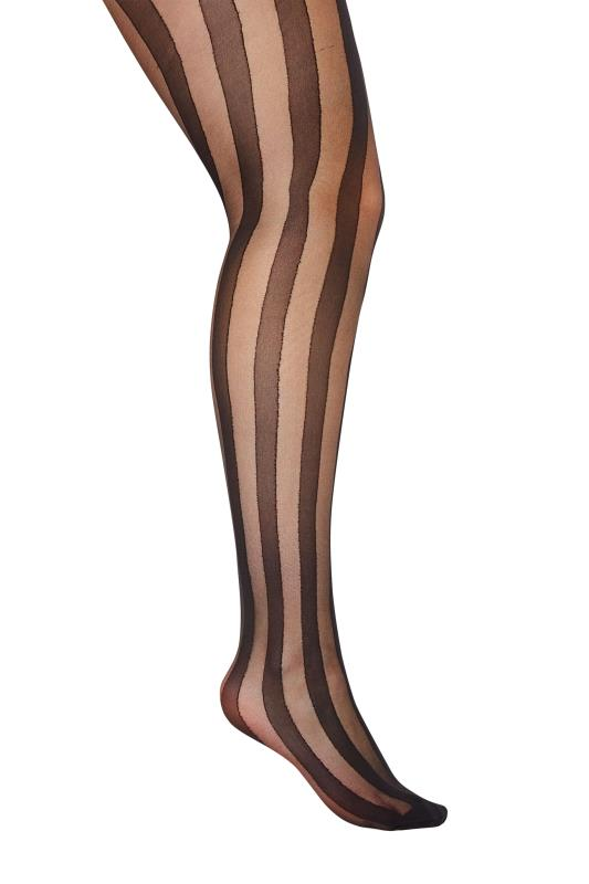 Black Stripe Sheer Tights
