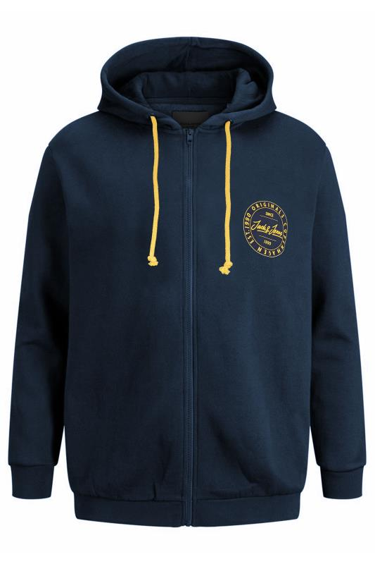 Großen Größen  JACK & JONES Navy Move Zip Through Hoodie